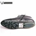 botas de cuero al tobillo negro genuino con suela clara 312-2-2