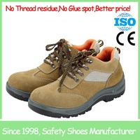 SF6922 light brown low cut steel toe cap engineering working safety shoes