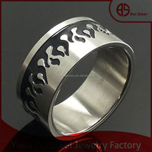 2015 new design stainless steel black fire frame class ring