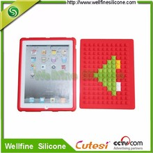 Creative new silicone smart cover for apple series cover blocks design