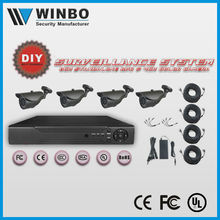 2015 New product security system H.264 4CH DIY CCTV DVR KIT