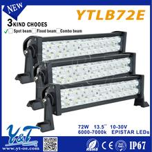 13.5inch 72W 6-LED*(3W) C.R.E.E LED Working Light Bar Off-Road SUV ATV 4WD 4x4 Spot / Flood Beam 10-30V 950-1080lmIP67 Motorcycl