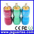tres de color conector rca de audio rca cables de interconexión