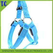 Pet Product Dog LED Harness Training Safety Light Glowing Harness for Dog LED dog 3 Sizes 8 Colors