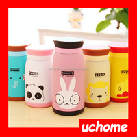 UCHOME High quality candy color cartoon stainless steel vacuum cup/vacuum flask