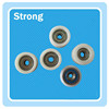 high quality plastic material belt tensioner pulley