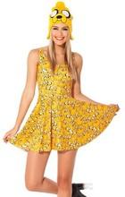 China latest fancy lady skirts dress sexy yellow lovely women dresses