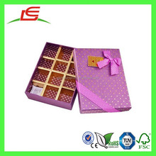 E0133 New Design Rectangle Recycled Empty Chocolate Boxes Of Trays Insert With Ribbons
