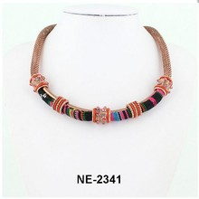 New arrival promotional gift ethnic alloy choker necklace with high quality