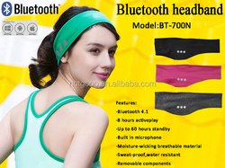 Promotional cheap wireless 4.1 sports headband spandex sweatband
