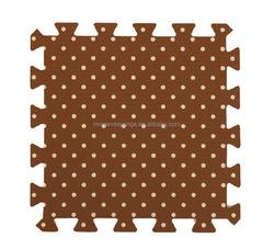 Polka dot Eva mat, dotted printed foam living room floor mat