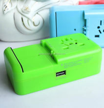 2014 top sale high quality world travel adapter straight gift umbrella