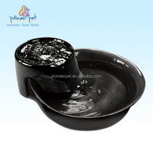 Pet dogs and cats drinking fountains / Ceramic Drinking Fountain Big Max, Black, Pet fountain 128oz