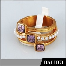 China Factory Direct Wholesale Mens Amethst Ring/Latest Designs Amethyst Ring