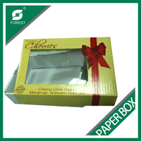 FRESH FRUIT BOX SWEET CHERRY PACKAGING BOX WITH PVC WINDOW