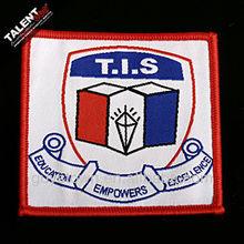 custom school logo uniform woven badge for clothing