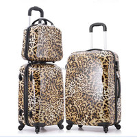 Eminent Trolley Leopard Suitcase with Wheel Luggage for Travel