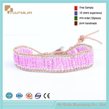 [Nafulin]2015 hot sale Yiwu handmade cheap C style single wrap seed bead bracelet