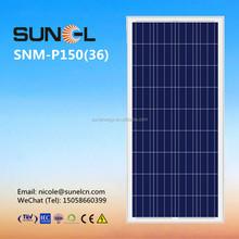 poly cells 150w 12v solar panel price per watt