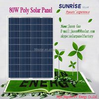 High quality pv panel Poly 80W home solar panel of factory direct sale made in China