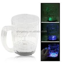 Fashion Multicolored LED Flashing Light Up Beer Mug(Transparent)