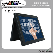 AIMTOUCH 12.1 inch Resisitive Payment,Wallmount,Desktop USB,RS232 type 1024x768 Touch Screen Monitor Taiwan