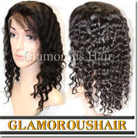 Aliexpress Cheap Factory Price Virgin Deep Wave Brazilian Hair Half Lace Wig Wholesale