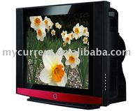 CRT color flat tube tv