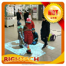HOT! RICHTECH various humanized designs interactive projection floor with abundant applications