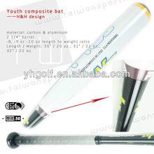Youth Bat Composite handle Aluminum barrel Baseball bats/Half&Half design