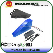 Sumsung battery cell make 48v 15ah triangle bicycle lithium battery pack