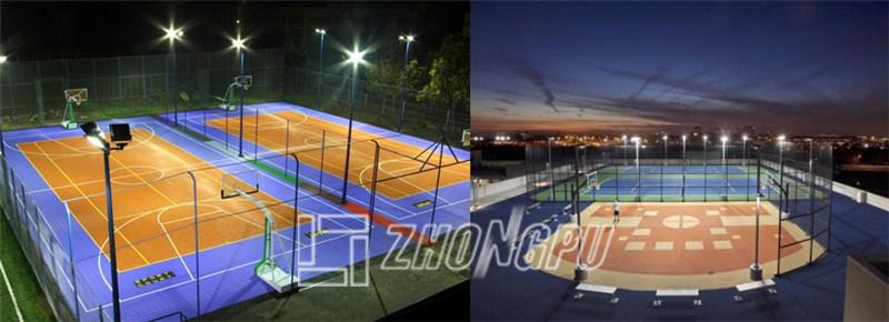 Outdoor Court Lighting 120w led high bay flood light outdoor led basketball court lights outdoor basketball court lighting project workwithnaturefo