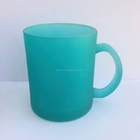 GREEN GLASS MUG/GLASS CUP/COLORED GLASS CUP