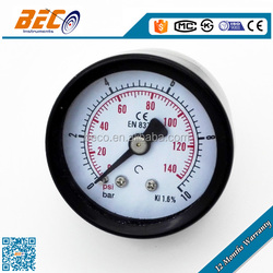 Back connector propane manometer with painted steel case
