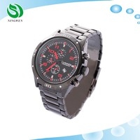 Curren Men's Casual Black Dial Analog Quartz Metal Band Men Sport Stainless steel back Cover Watch