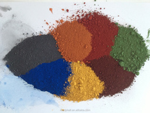 (Red,Yellow,Black,Brown,Orange,Blue,Green) Available Iron Oxide Pigment Colors