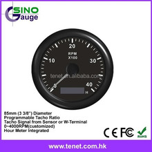 85mm Auto Gauge Waterproof Protection Marine Tachometer for Yacht