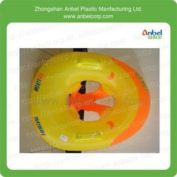 boy PVC products yellow float on water seat
