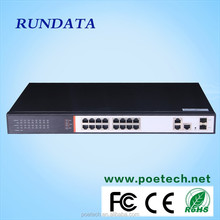 Nice price factory directly 2 gigabit combo managed 16 port PoE Switch