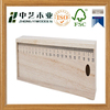 Factory price handmade unfinished solid pine children wooden pencil case