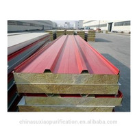 Polyurethane Sound insulation sandwich color steel plate for roof