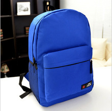 2015 new Korean solid color men and women high school students backpack school backpack rucksack bag wholesale(BXJY1011)