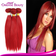 Accpet paypal 3 bundles red Brazilian hair weave braiding