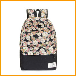 Manufacturers China New Fashionable Printed Canvas Backpack