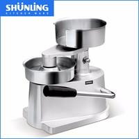 Hamburger Patty Press maker SL-H130, anodized aluminium alloy body, stainless steel bowl