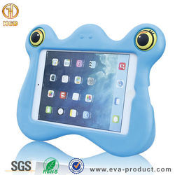 2015 newest cute case for ipad mini tablet , lovely frog 3D cartoon animal shaped monster case for mini ipad for kids