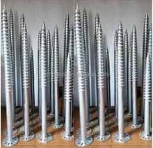 hot dipped galvanization ground screw,steel screw pile,ground screw pile