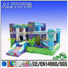 fantastic! inflatable combo with slide,priate inflatable combo slide