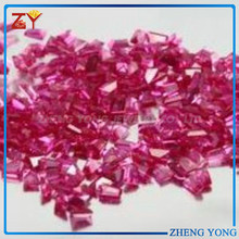 factory derect selling fancy shaped ruby 5# synthetic corundum gemstone