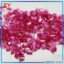 factory derect selling fancy shaped ruby 5# synthetic corundum gemstone